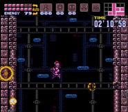 Tourian escape shaft - Super Metroid, exploding