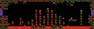 Vine-infested passage full view Metroid