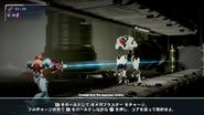 Samus aiming Omega Stream at white E.M.M.I.