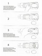 Arm Cannon instruction sheet - front