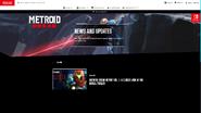 Sitio web del Informe de Metroid Dread en inglés