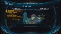 Pantalla de Samus en Metroid Other M