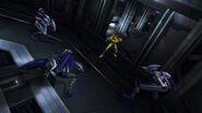 Samus contra un grupo de cyborgs zebesianos