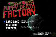 Escape from Puppy Death Factory menu