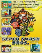 Super Smash Bros. Nintendo Power ad