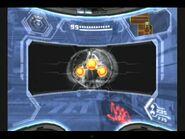 Metroid de Phazon visto con el Visor de Rayos X