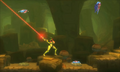 Metroid Samus Returns - Samus fighting creatures 2
