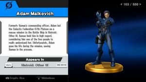 Adam Malkovich trofeo SSB WiiU.png