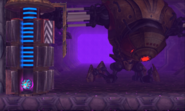 Diggernaut drilling arm core attacked by Samus