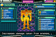 Varia Suit with Fully Powered Suit Samus Screen