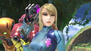 SSB Ultimate Zero Suit Samus with her suit
