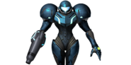 Dark Samus SSB4 costume render