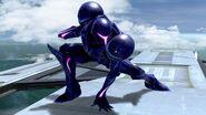 SSB Ultimate Dark Samus crouch
