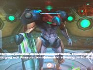 Samus interfacing with Aurora Unit 217 glitch (low quality)