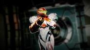 Dread Suit Samus exploring