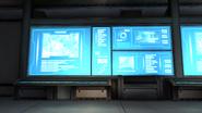 Control room screens closeup