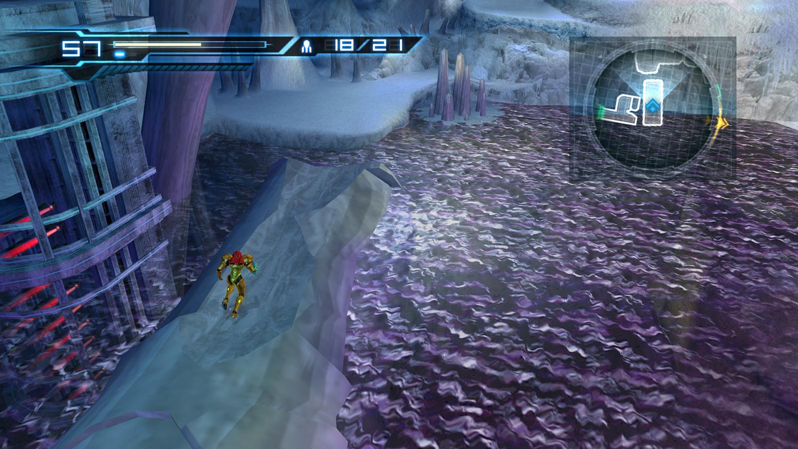Vast ice cavern