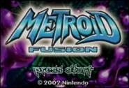 Metroid Fusion E3-2002 title