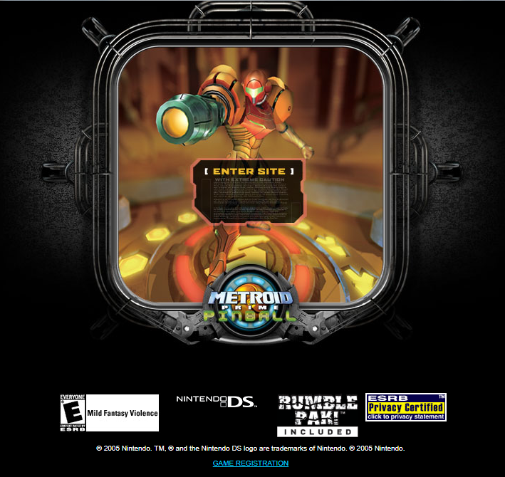 Metroid Prime Pinball Website