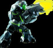 Green Mech combat