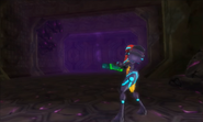 Samus enters Diggernaut arena