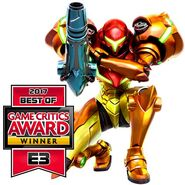 Samus Returns Game Critics Award Winner