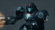 PED suit 50% CORRUPTED with Hazard Shield