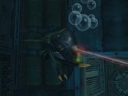 Zángano Aqua disparando MP