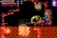 SRX Metroid's Husk in Lava Area MF