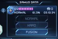 Samus Returns Samus Data Screen and Fusion Mode