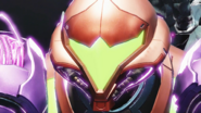 MD Burenia Gravity Suit Samus face close up