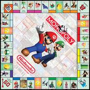Nintendo Monopoly tablero