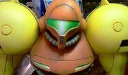 Metroid Prime lifesize statue (closeup of face)