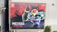 Metroid Dread ad on Yamanote Line