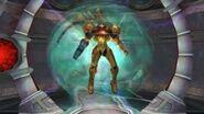 Samus saliendo de un Portal de Luz
