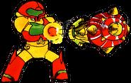 Artwork Samus misil en Metroid