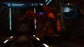 Red-lit corridor - Desbrachian dies