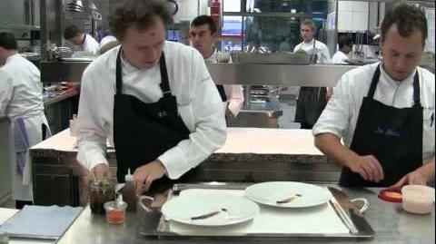 Busy at 3 Michelin star Aqua during service