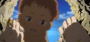 Hana's son at the beach