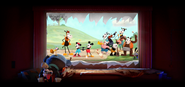Mickey Mouse Get A Horse! Oswald The Lucky Rabbit Cameo