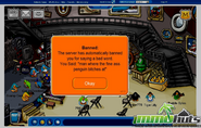 Club penguin MMOhuts Banned