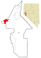 Lyon County Nevada Incorporated and Unincorporated areas Dayton Highlighted.png