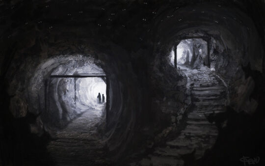 Scary cave by byakko kun.jpg