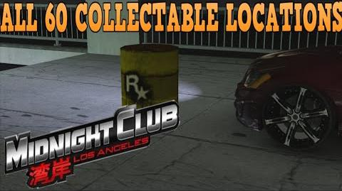 All 60 collectable locations - Midnight Club Los Angeles