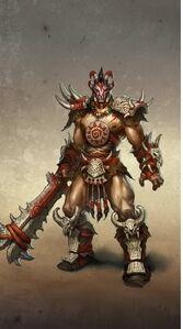 Barbarian male artwork Heroes VI