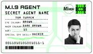 ID card 1 - Tom Tupper