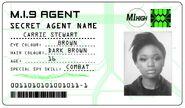 ID card 1 - Carrie Stewart