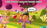 Fourth Mii enjoying Tomato Juice