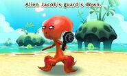"The Alien ""Traveler"" guard down"