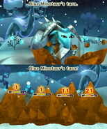 Blue Minotaur attacks